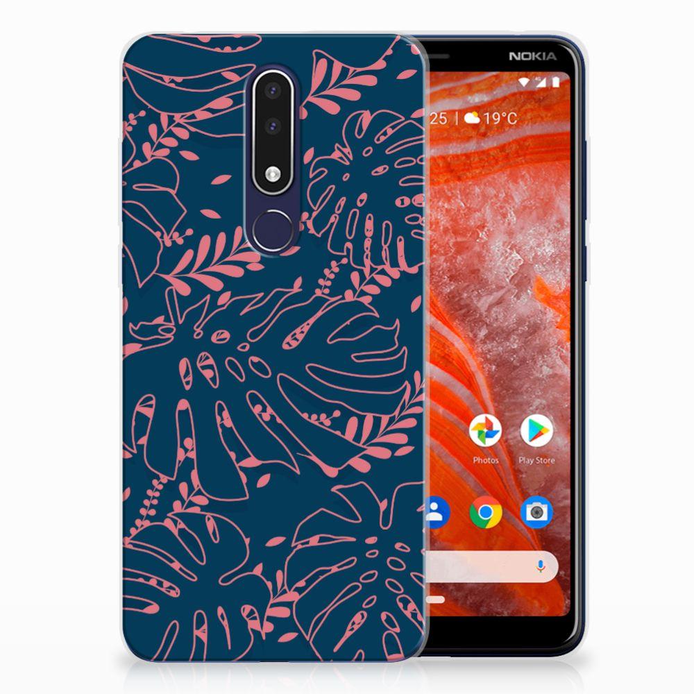Nokia 3.1 Plus TPU Case Palm Leaves