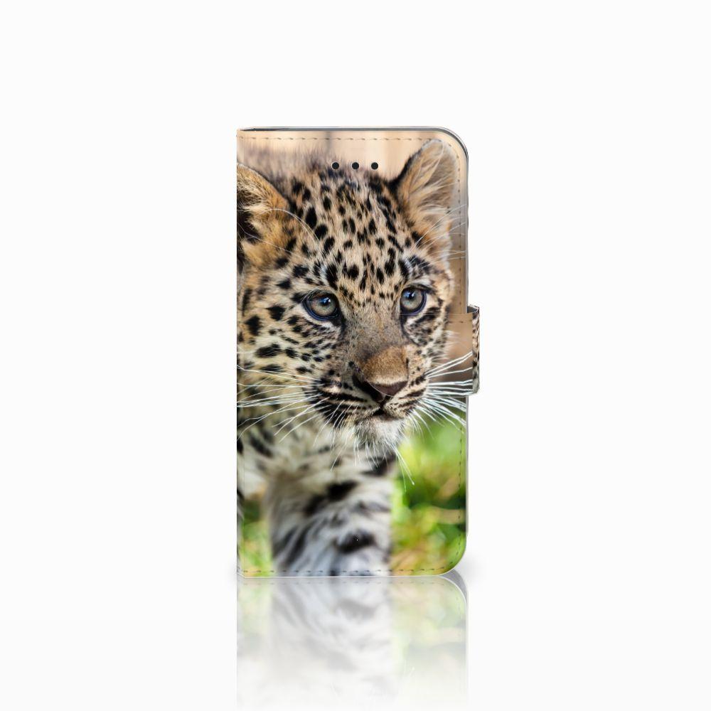 Apple iPhone X | Xs Uniek Boekhoesje Baby Luipaard