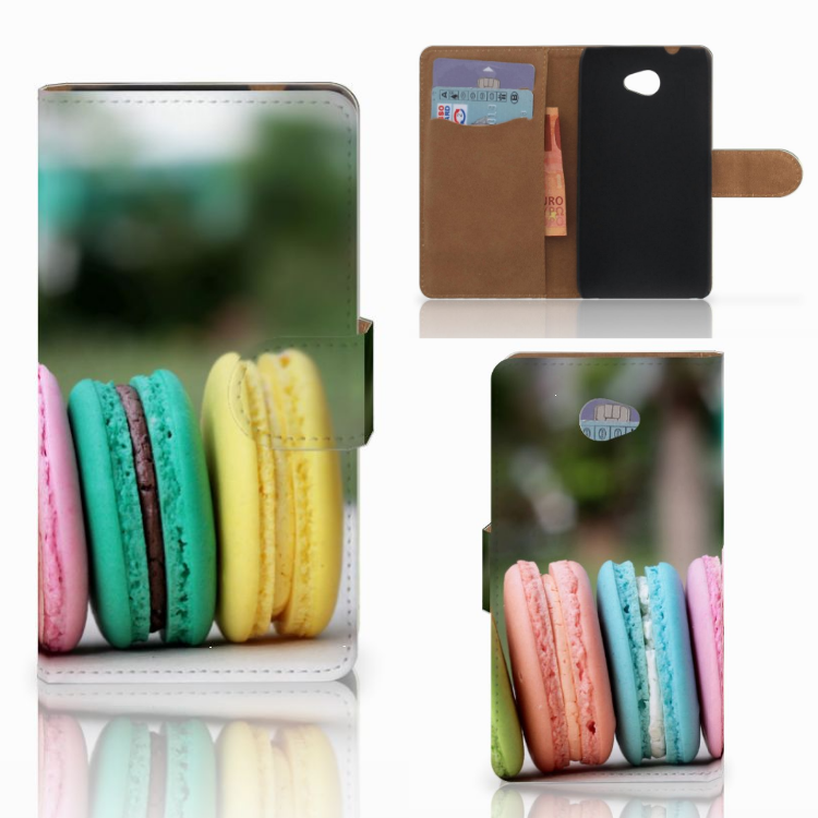 HTC Desire 601 Book Cover Macarons
