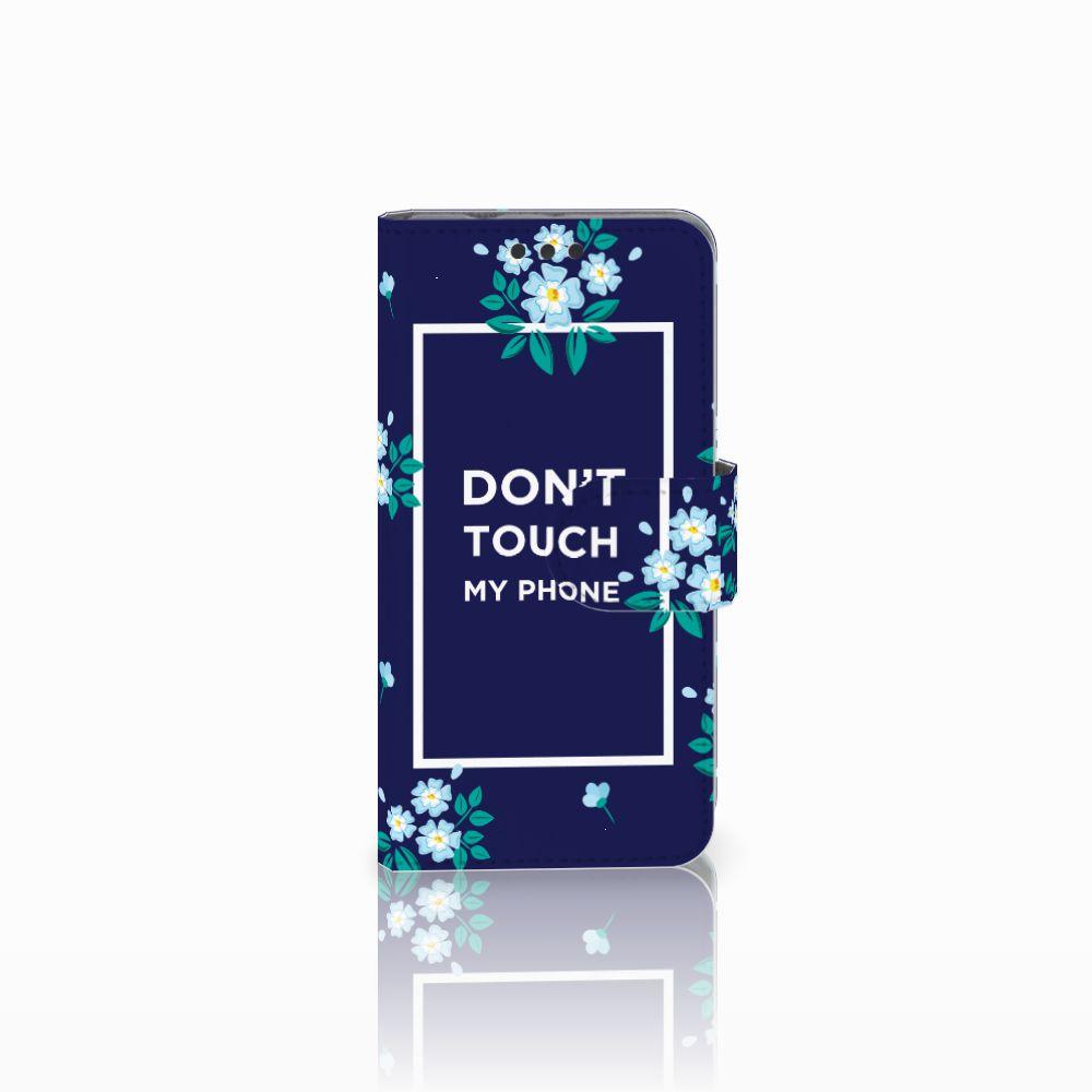 Sony Xperia Z3 Compact Boekhoesje Flowers Blue DTMP