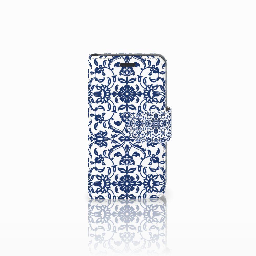 Nokia Lumia 520 Uniek Boekhoesje Flower Blue