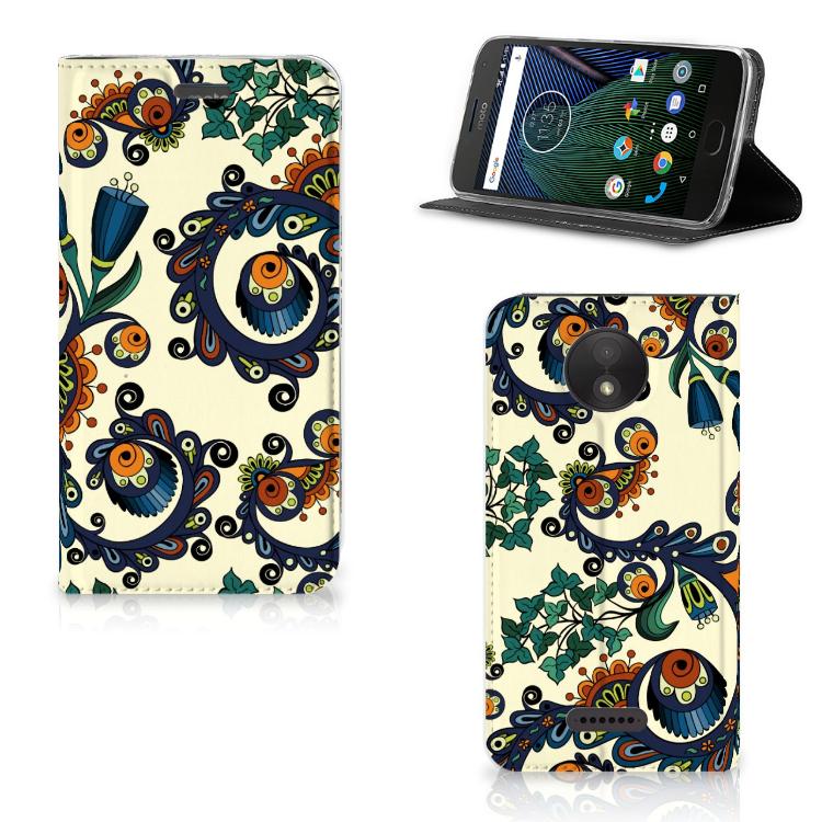 Telefoon Hoesje Motorola Moto C Plus Barok Flower