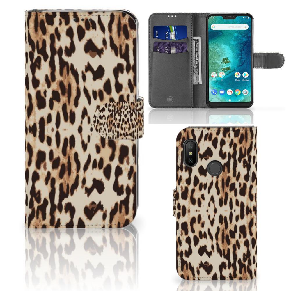 Xiaomi Mi A2 Lite Telefoonhoesje met Pasjes Leopard