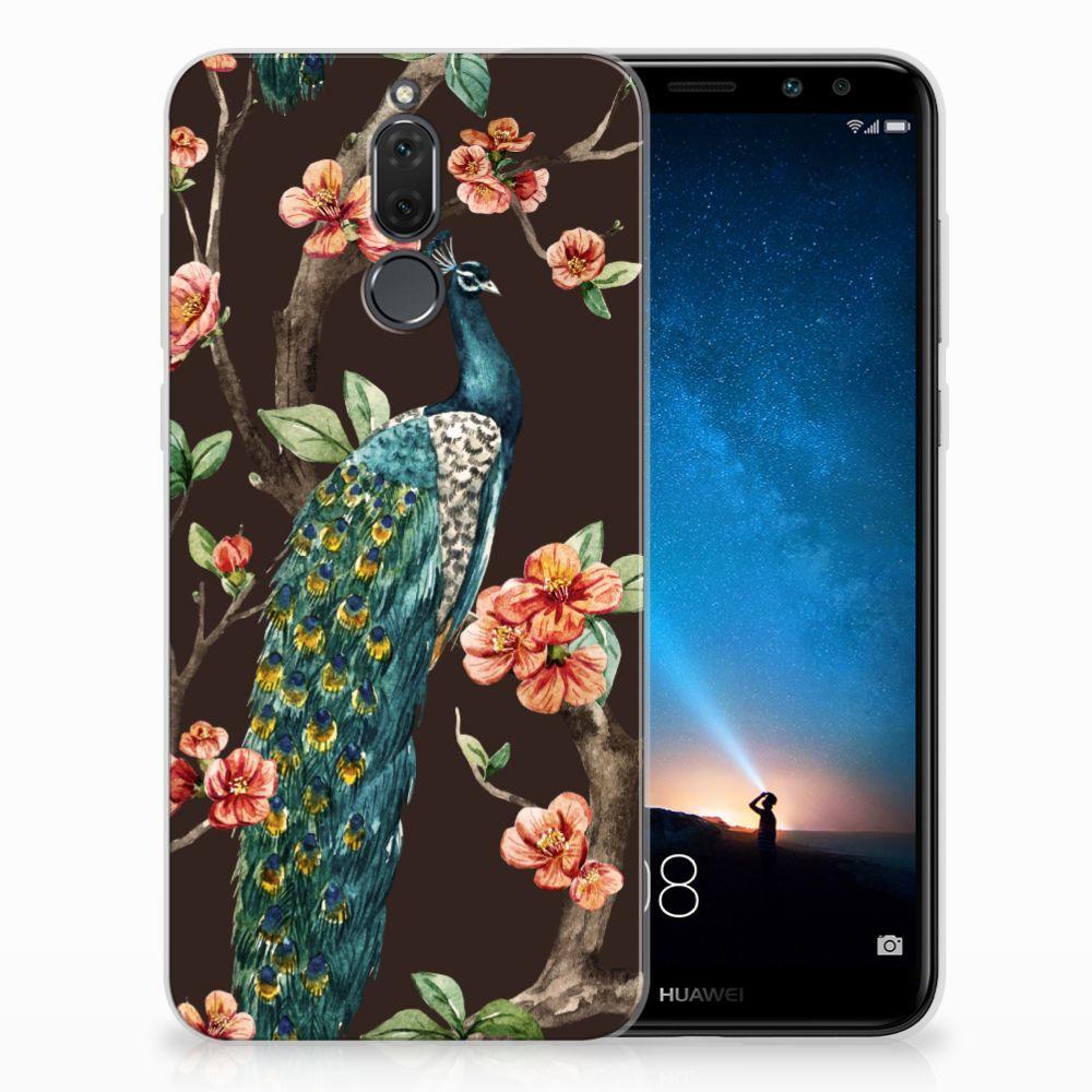 Huawei Mate 10 Lite TPU Hoesje Pauw met Bloemen