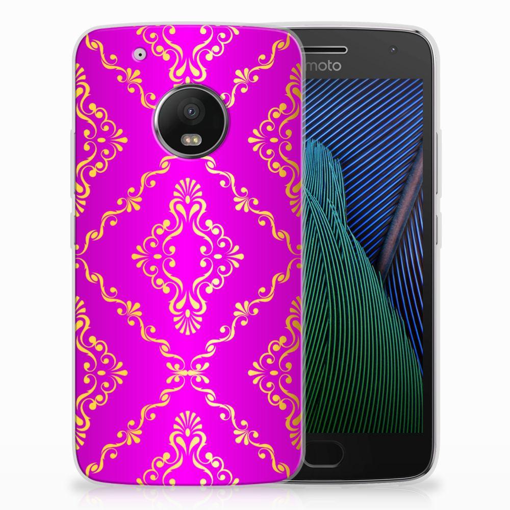 Siliconen Hoesje Motorola Moto G5 Plus Barok Roze