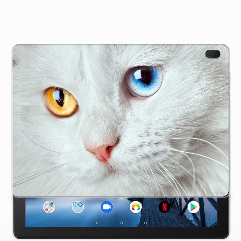 Lenovo Tab E10 Back Case Witte Kat