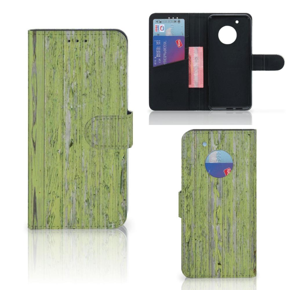 Motorola Moto G5 Plus Boekhoesje Design Green Wood