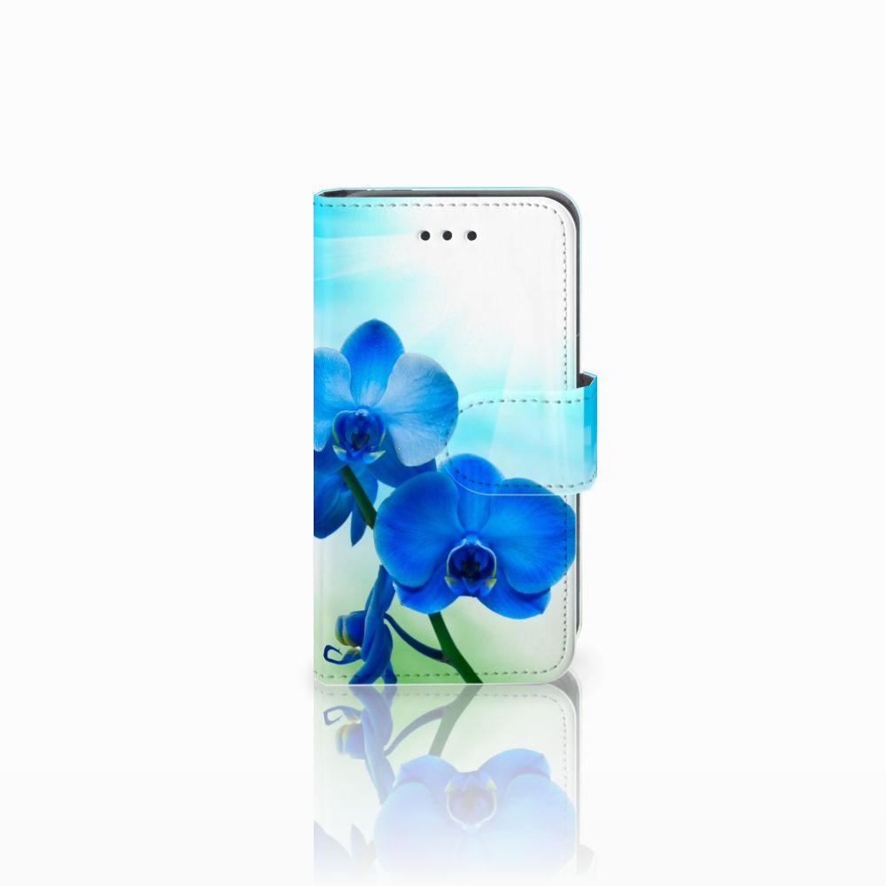 Nokia Lumia 530 Boekhoesje Design Orchidee Blauw
