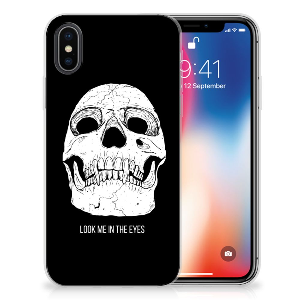 Silicone Back Case Apple iPhone X | Xs Skull Eyes