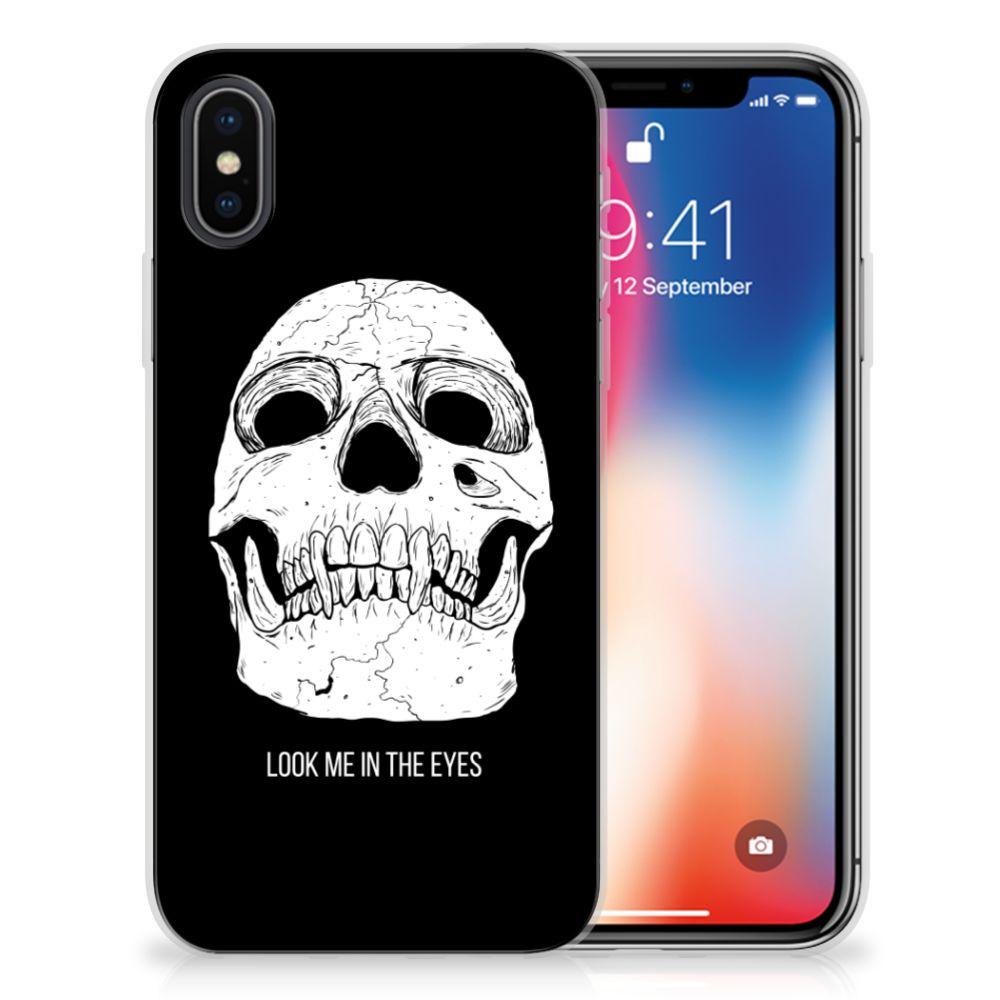 Silicone Back Case Apple iPhone X | Xs Skull Eyes