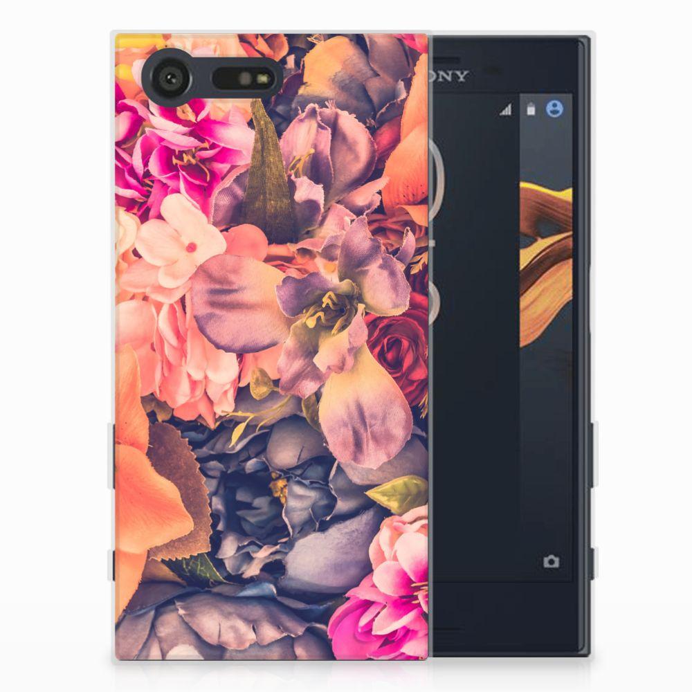 Sony Xperia X Compact TPU Hoesje Design Bosje Bloemen