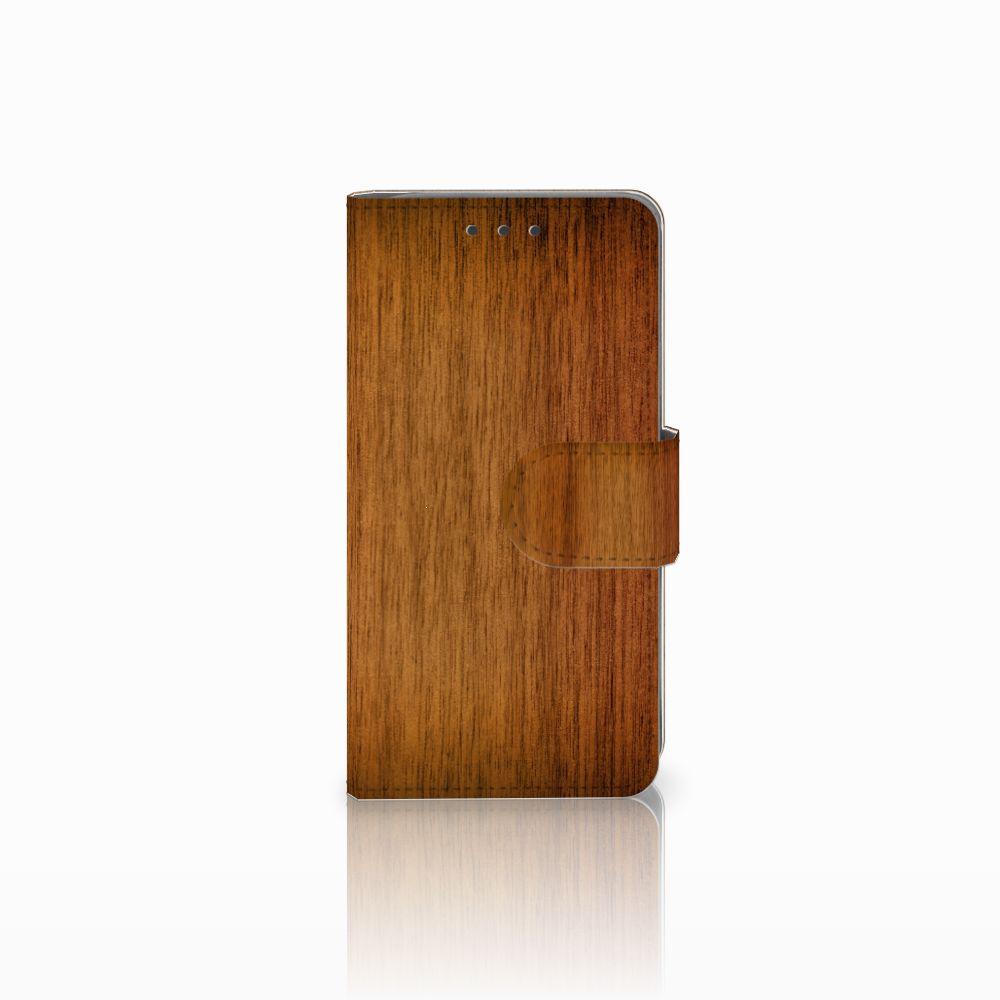 Samsung Galaxy A3 2015 Uniek Boekhoesje Donker Hout