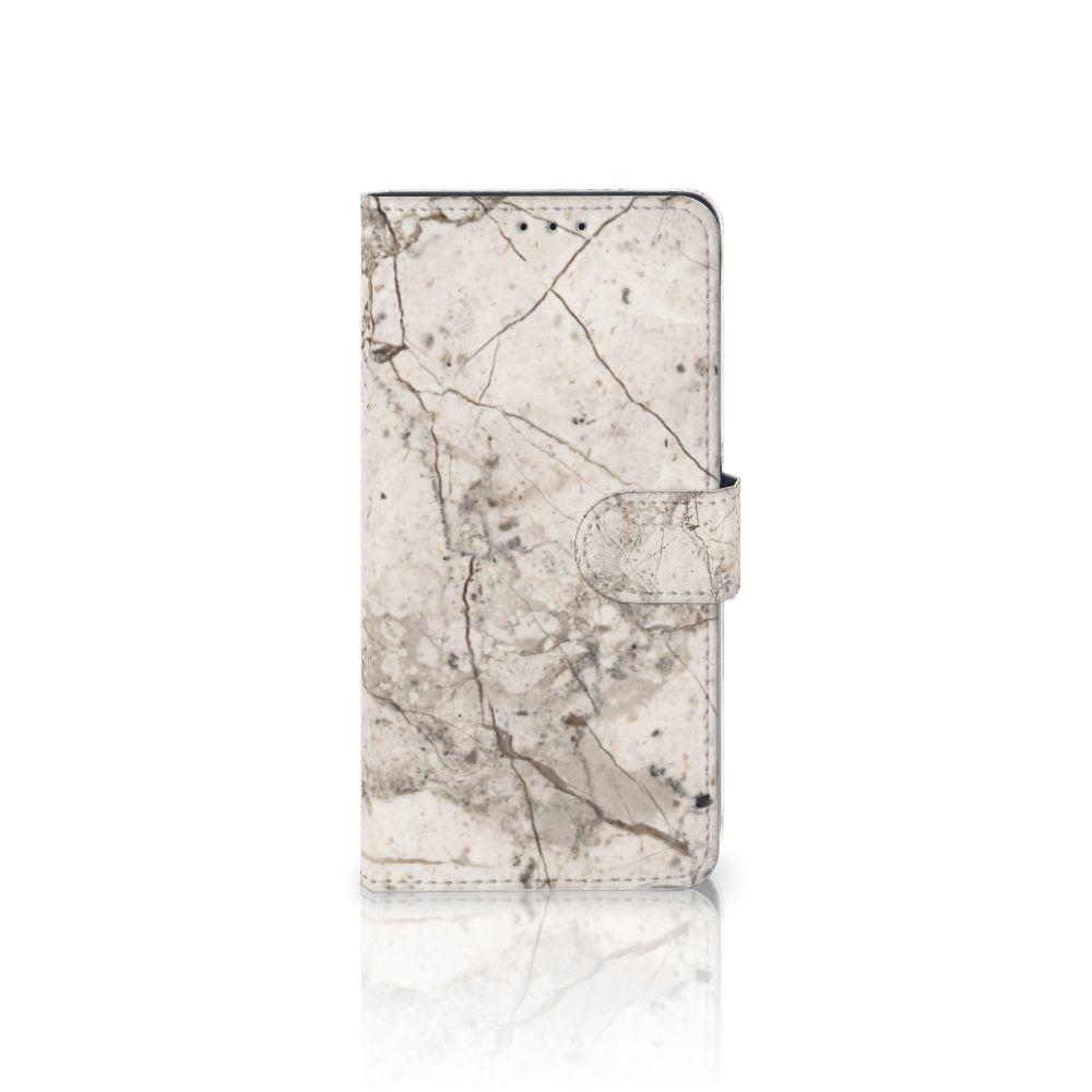 Samsung Galaxy A8 Plus (2018) Boekhoesje Design Marmer Beige