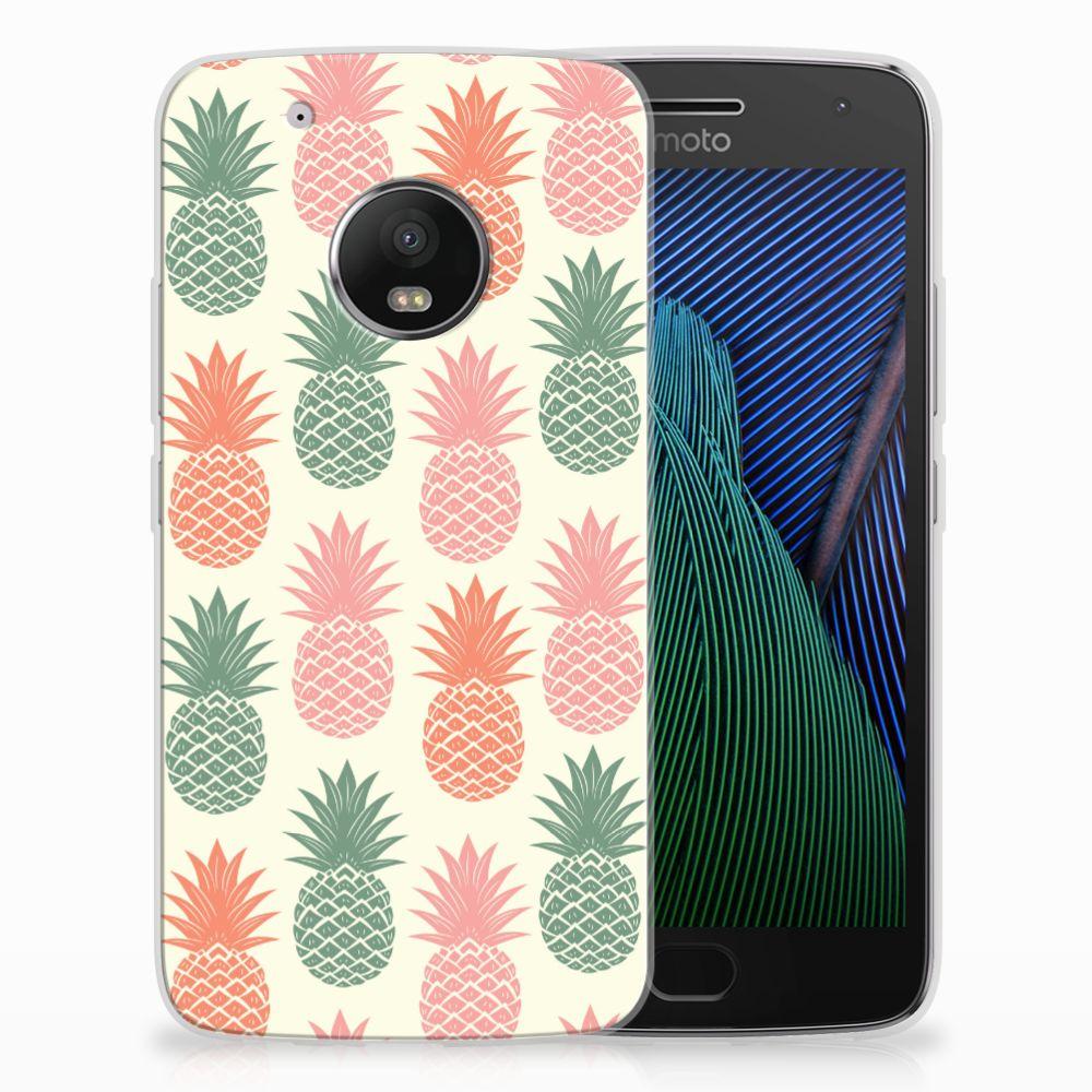 Motorola Moto G5 Plus Siliconen Case Ananas