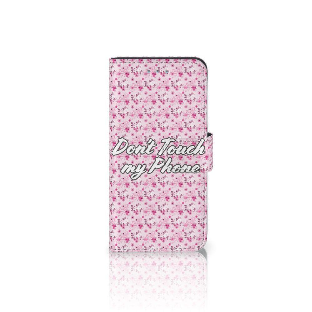 Samsung Galaxy S6 | S6 Duos Uniek Boekhoesje Flowers Pink DTMP