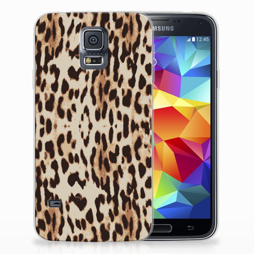 Samsung Galaxy S5 Uniek TPU Hoesje Leopard