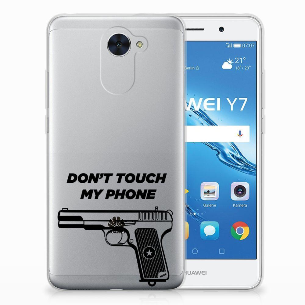 Huawei Y7 (2017) | Y7 Prime (2017) Uniek TPU Hoesje Pistol DTMP