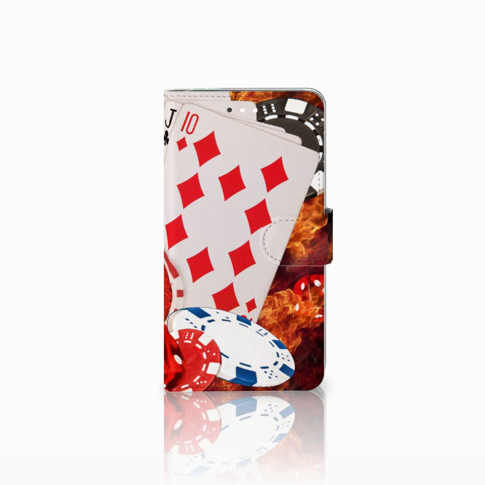 Huawei Ascend G7 Uniek Boekhoesje Casino