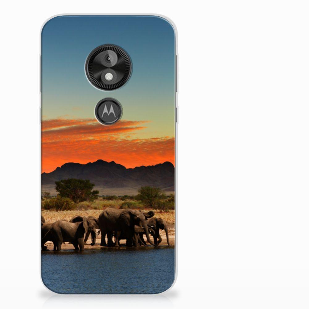 Motorola Moto E5 Play TPU Hoesje Design Olifanten