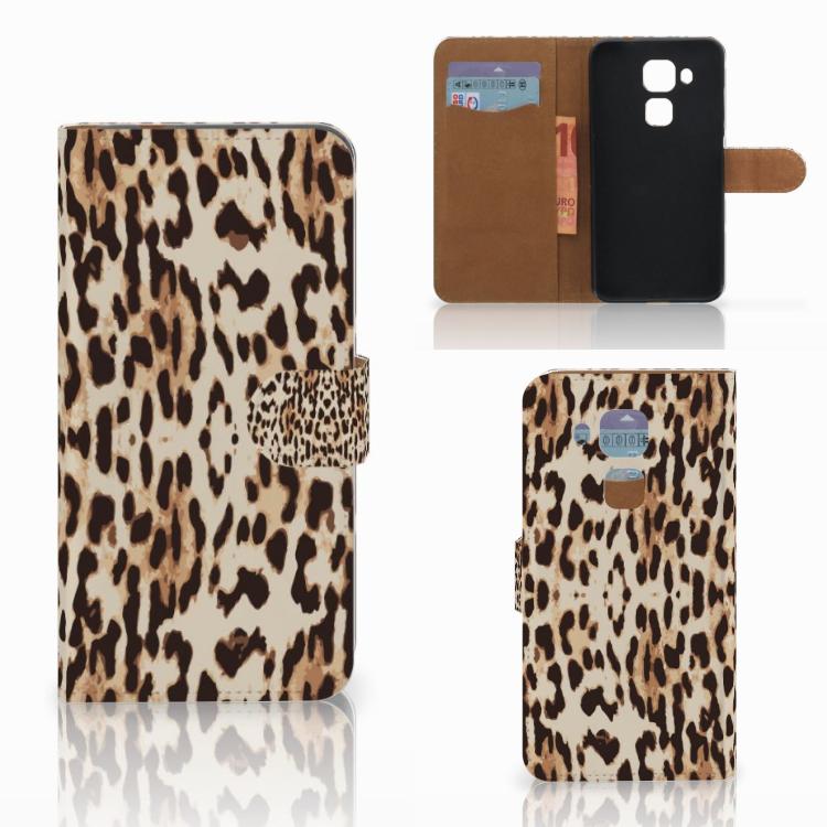 Huawei Nova Plus Telefoonhoesje met Pasjes Leopard