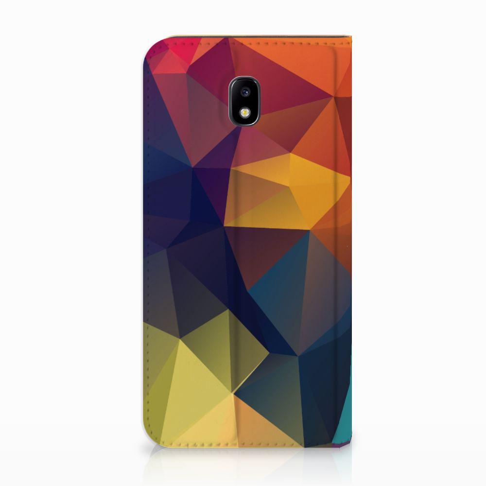Samsung Galaxy J5 2017 Standcase Hoesje Design Polygon Color