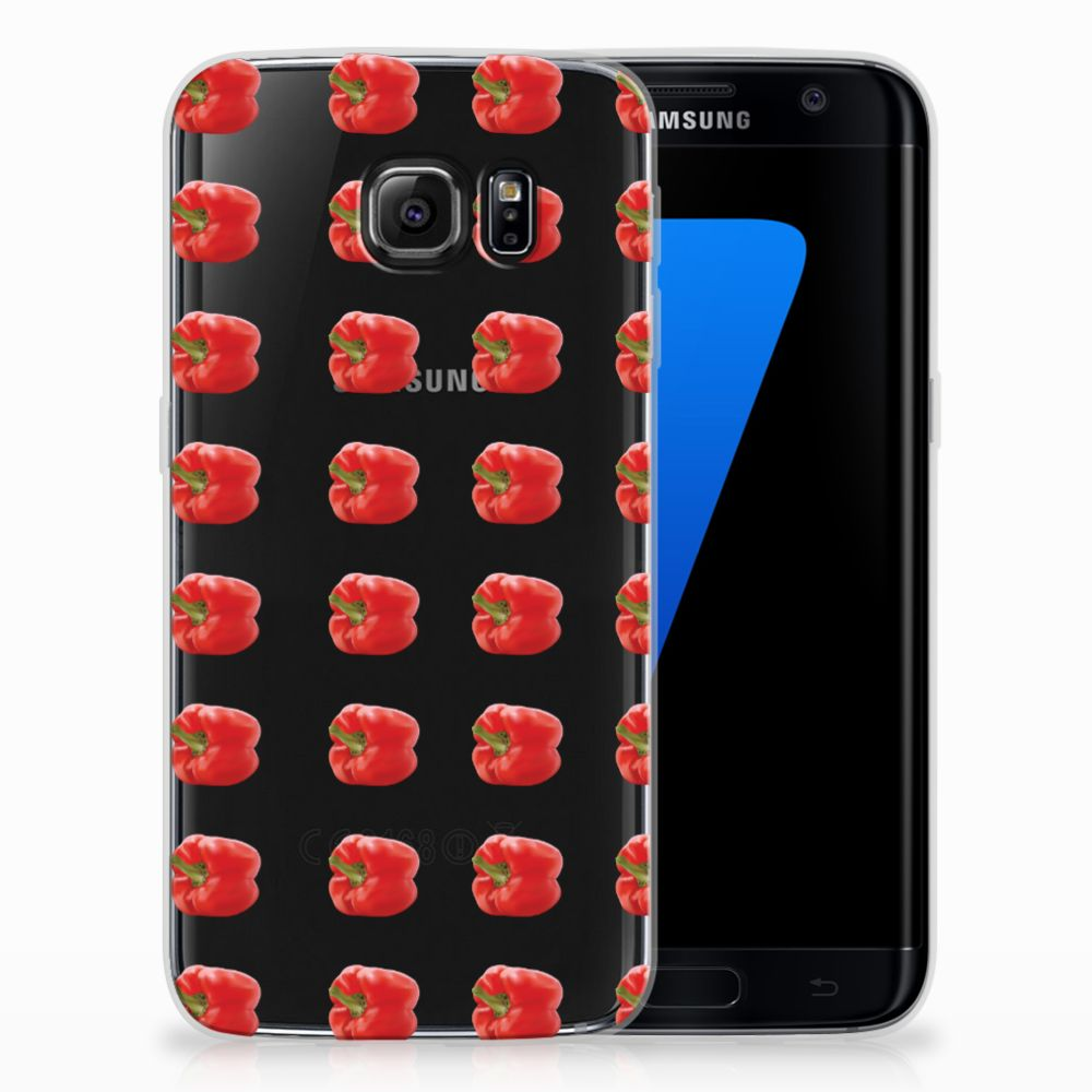 Samsung Galaxy S7 Edge Siliconen Case Paprika Red