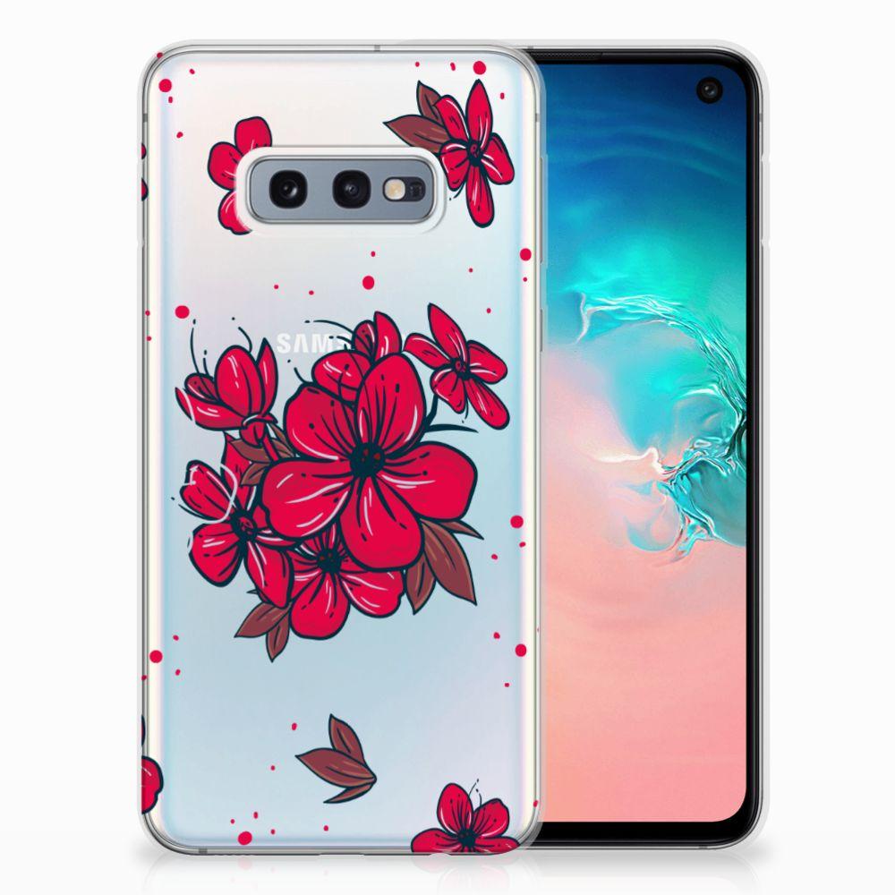 Samsung Galaxy S10e TPU Hoesje Design Blossom Red