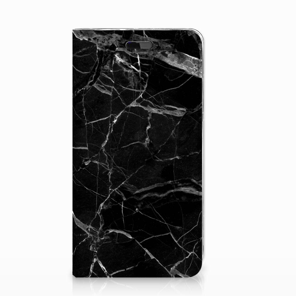 Huawei Y5   Y6 2017 Standcase Marmer Zwart - Origineel Cadeau Vader