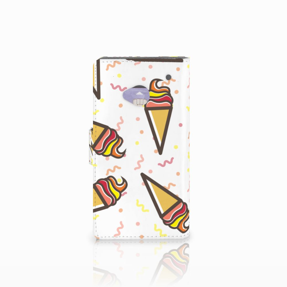 HTC One M7 Book Cover Icecream