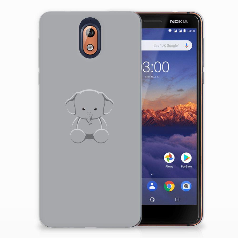 Nokia 3.1 (2018) Uniek TPU Hoesje Baby Olifant