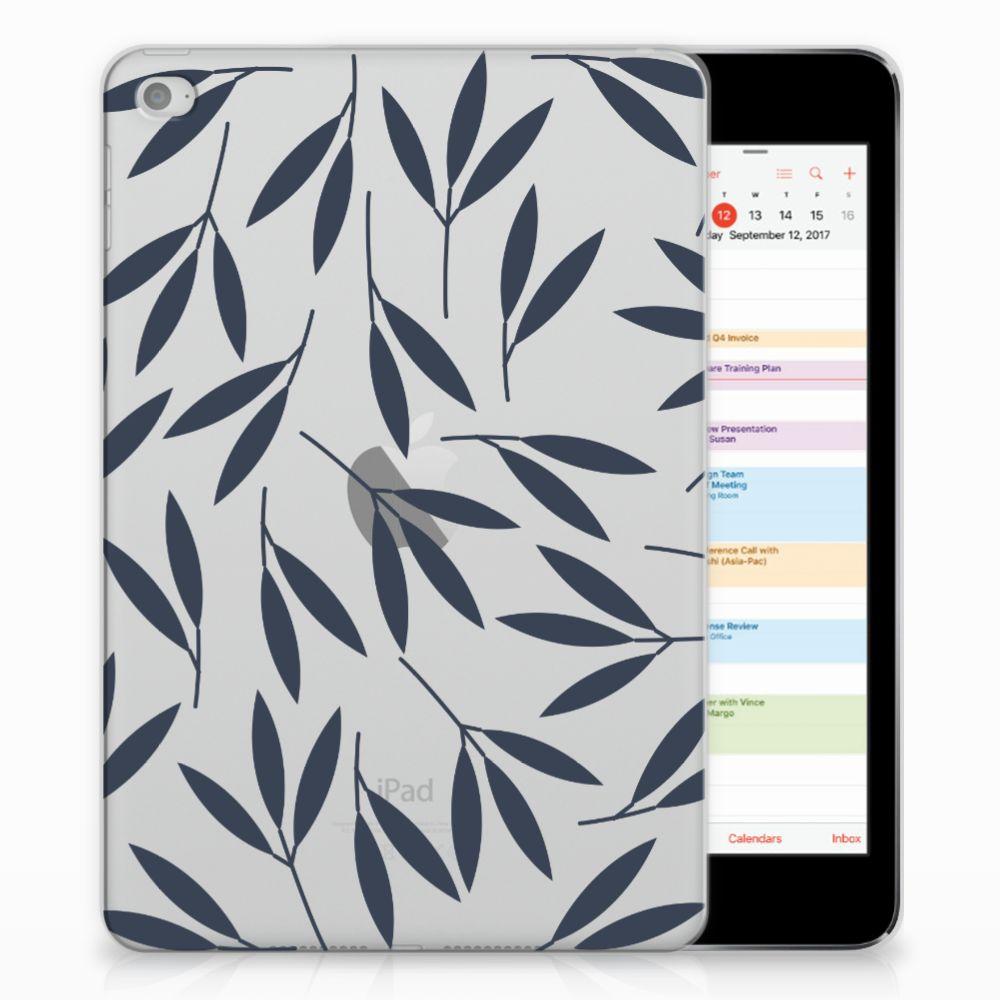 Apple iPad Mini 4 | Mini 5 (2019) Siliconen Hoesje Leaves Blue