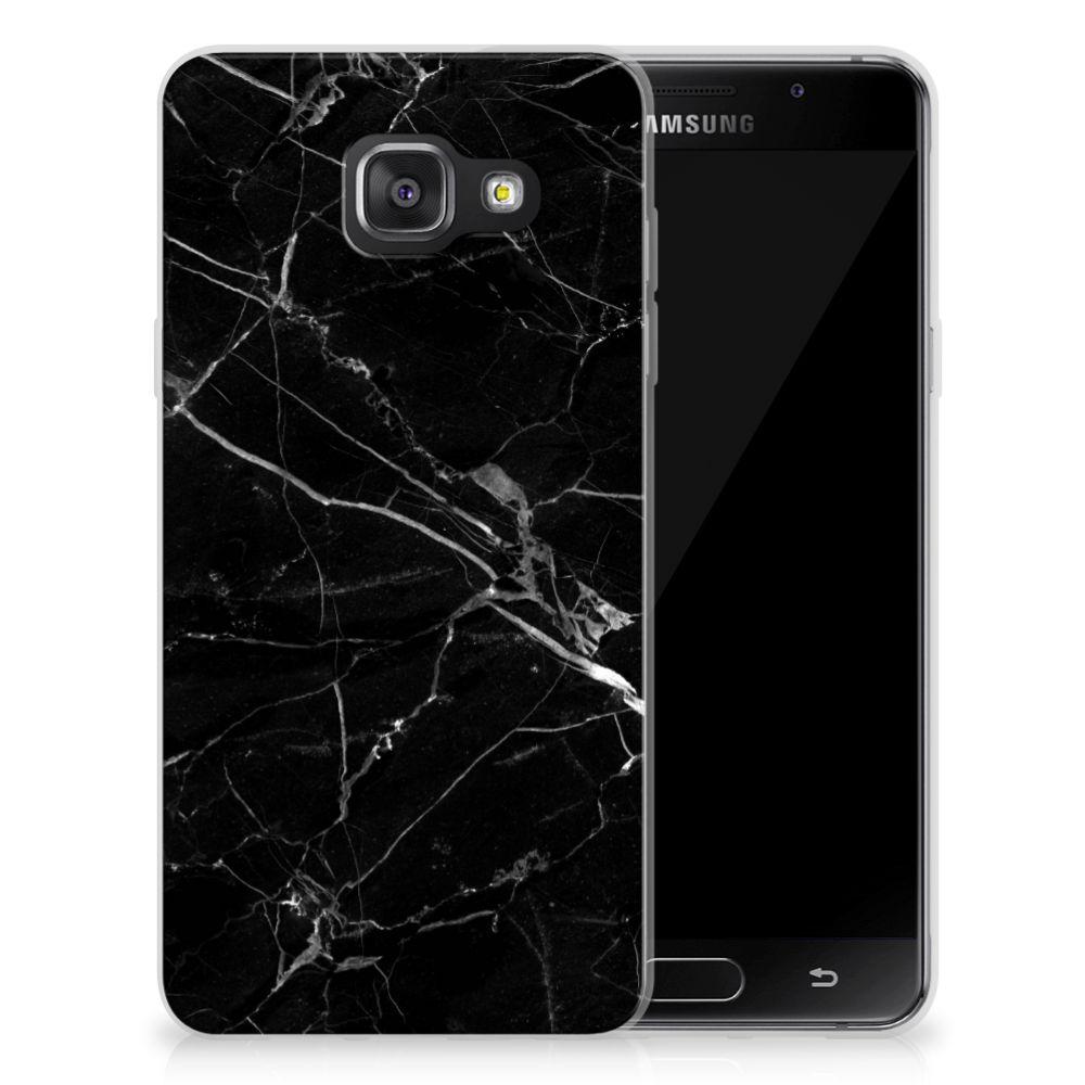 Samsung Galaxy A3 2016 TPU Siliconen Hoesje Marmer Zwart