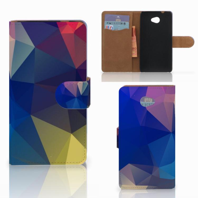 HTC Desire 601 Bookcase Polygon Dark