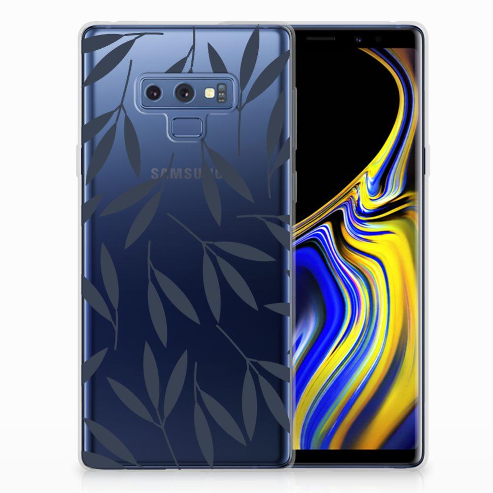 Samsung Galaxy Note 9 TPU Hoesje Design Leaves Blue