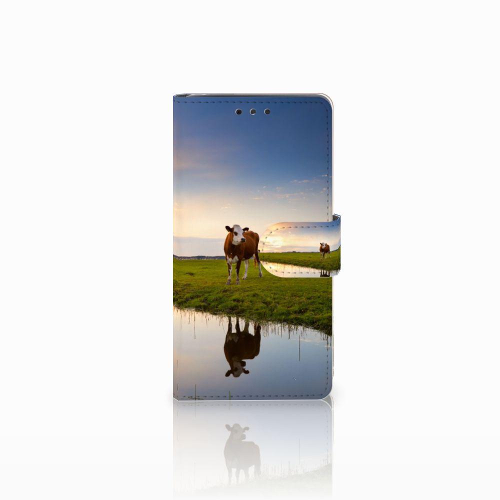 LG Bello 2 Telefoonhoesje met Pasjes Koe