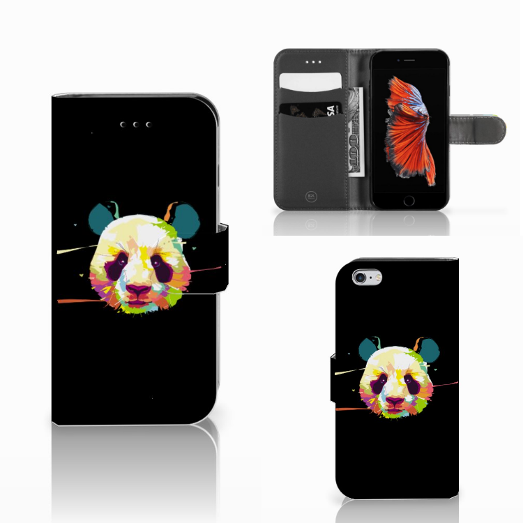 Apple iPhone 6 | 6s Leuke Hoesje Panda Color