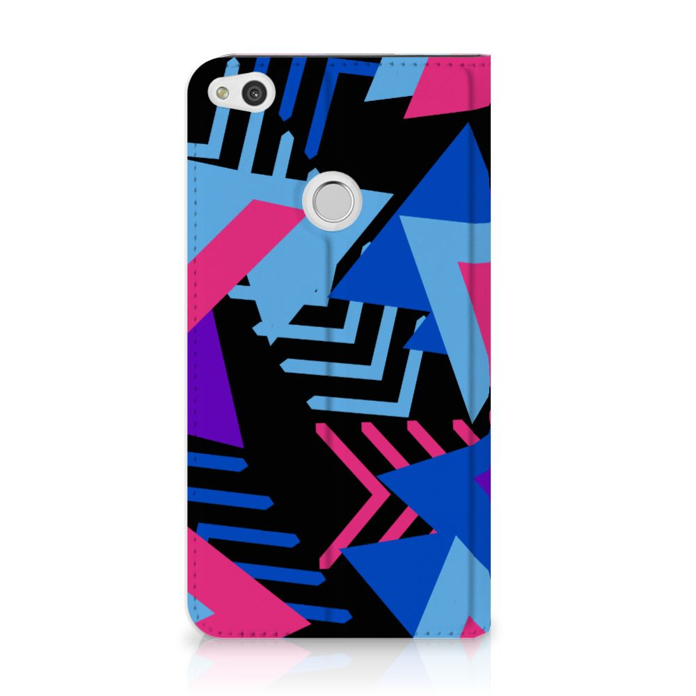 Huawei P8 Lite 2017 Standcase Hoesje Design Funky Triangle