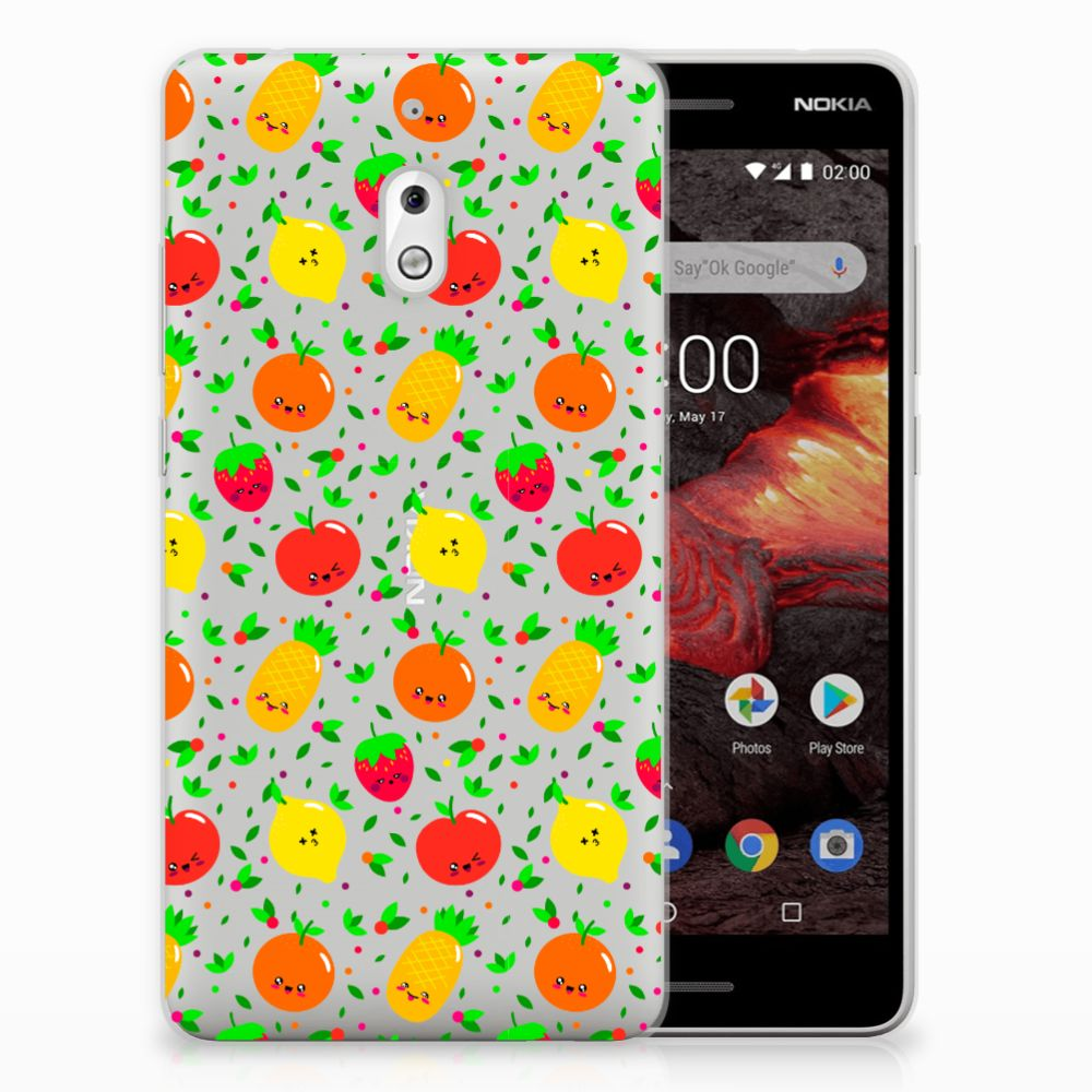 Nokia 2.1 (2018) Siliconen Case Fruits
