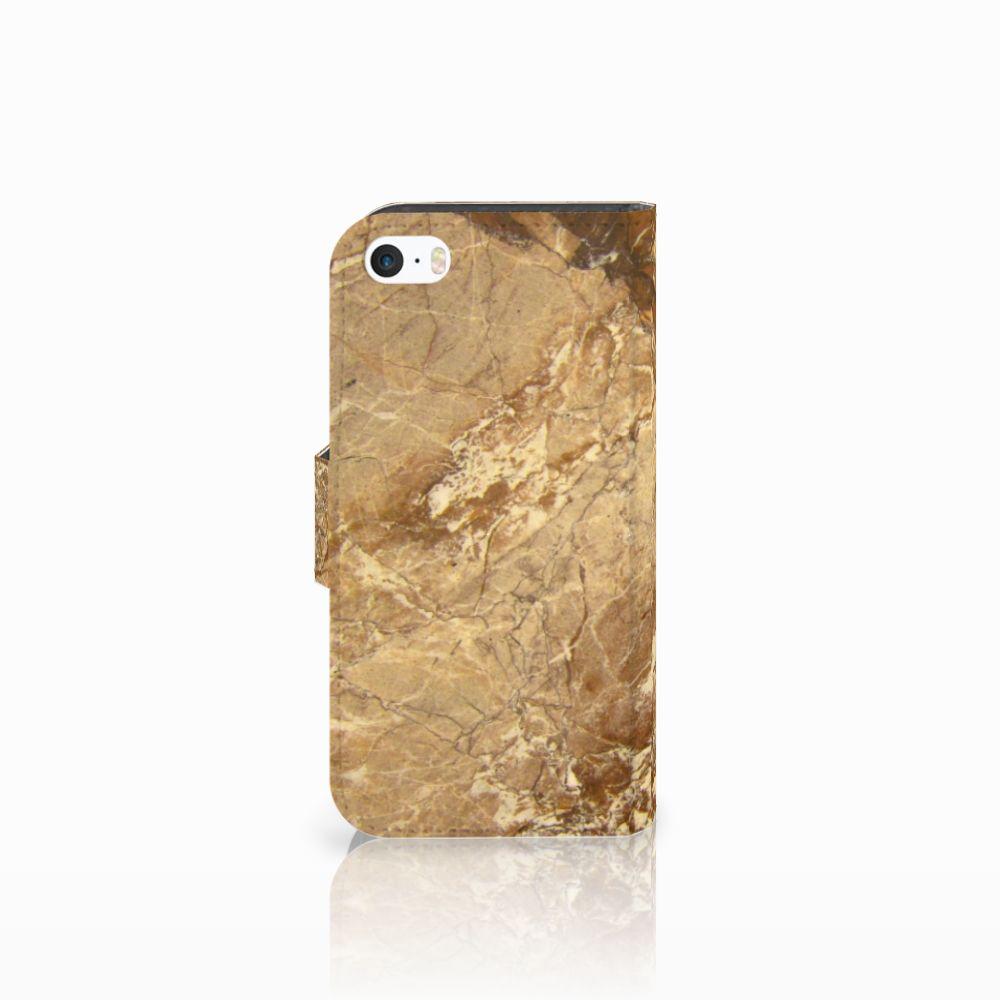 Apple iPhone 5 | 5s | SE Bookcase Marmer Creme