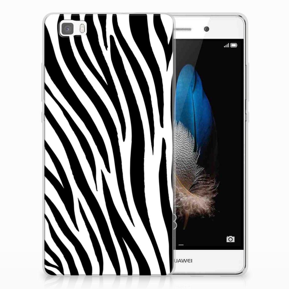 Huawei Ascend P8 Lite TPU Hoesje Zebra