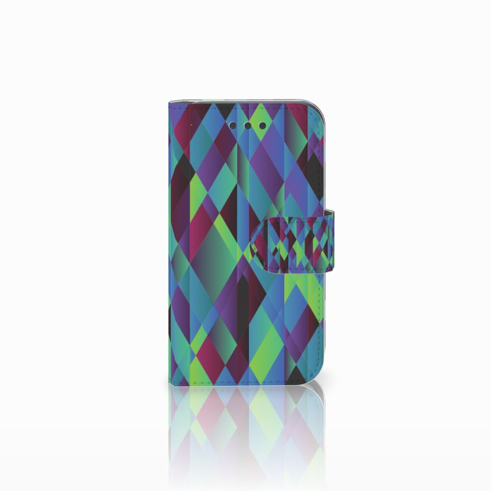 Samsung Galaxy Core 2 Bookcase Abstract Green Blue
