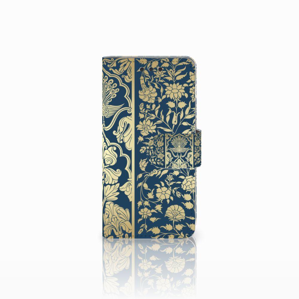 Samsung Galaxy A3 2016 Boekhoesje Golden Flowers