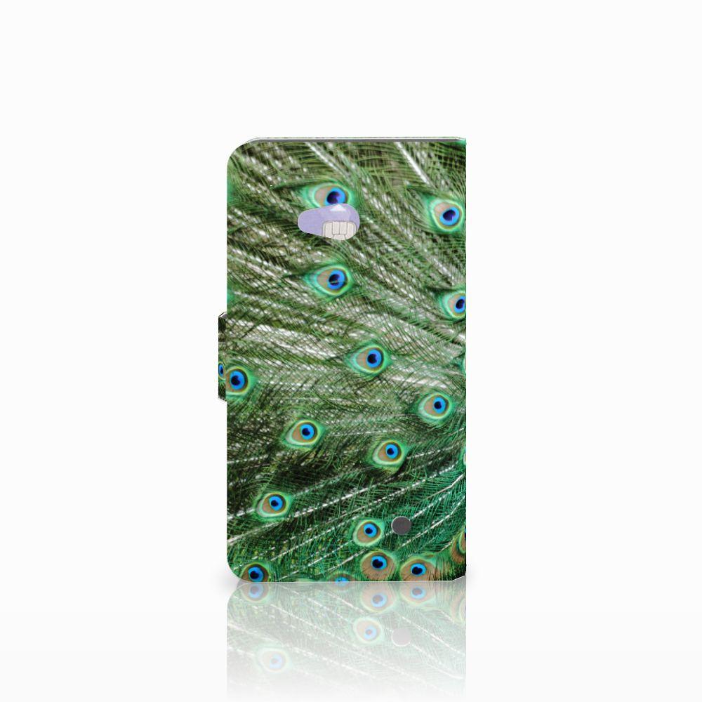 Microsoft Lumia 640 Telefoonhoesje met Pasjes Pauw