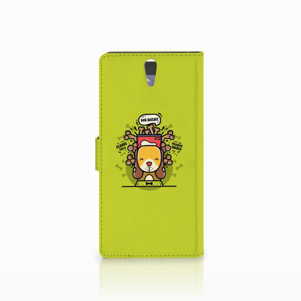 Sony Xperia C5 Ultra Leuke Hoesje Doggy Biscuit