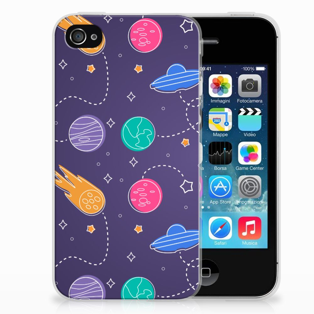 Apple iPhone 4   4s Silicone Back Cover Space
