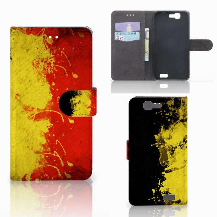 Huawei Ascend G7 Bookstyle Case Belgische Vlag