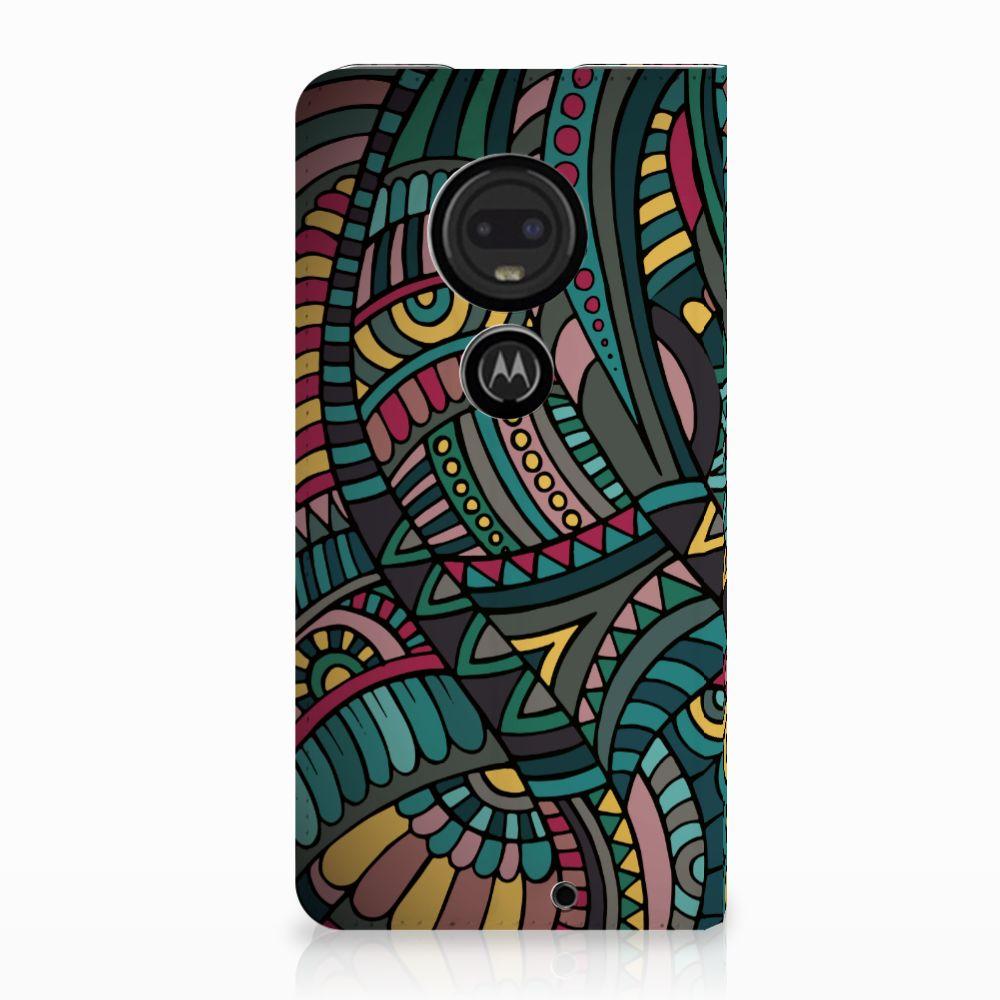 Motorola Moto G7 | G7 Plus Standcase Hoesje Design Aztec