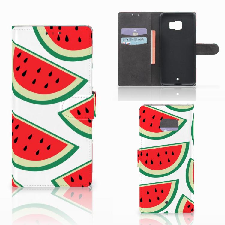 HTC U Ultra Book Cover Watermelons