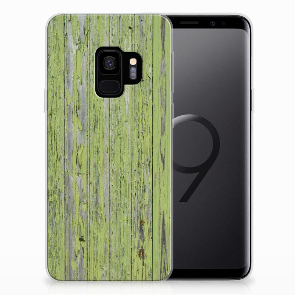 Samsung Galaxy S9 Bumper Hoesje Green Wood