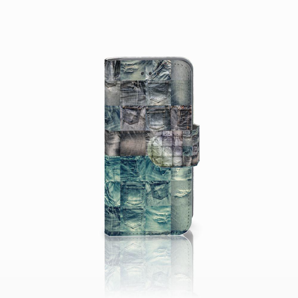 Apple iPod Touch 5   6 Uniek Boekhoesje Spijkerbroeken
